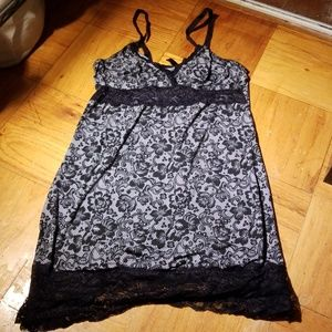 Black &White Nighty,XL,lace details,good condition